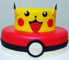 Bolo pokemon - bolos da Lu Www.facebook.com/bolosdalumariano
