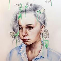 Kate Powell Art @katelouisepowell In Gloom/In Bloom...Instagram photo   Websta (Webstagram)