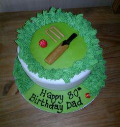 Cricket cake - cake central Cricket Cake, Birthday Cakes, Happy Birthday, Cake Craft, Cake Central, Party Ideas, Gift Ideas, Amazing Cakes, Cake Ideas