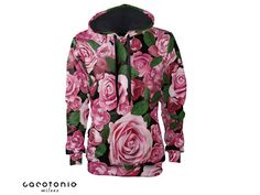 hoodie women Roses colorful print art vintage clothing all sizes oversized womens hoodie gift for women cotton Cacofonia hoodies for women