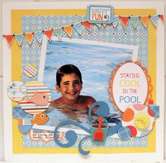 STAYING COOL IN THE POOL - Scrapbook.com
