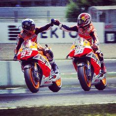 motogp's photo----Dani Pedrosa & Marc Marquez