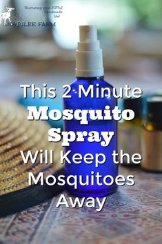Mosquito spray made with essential oils and vodka.