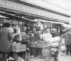 Lewisham-1969 That recognisable Lettering in raised Gold letters and in the days when it was F.W. Woolworth & Co. Ltd. - also the same curved plate glass windows with the doors set back from frontage
