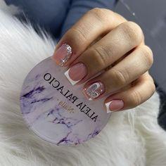 Dope Nails, Fun Nails, Precious Nails, White Nails With Gold, Cool Nail Art, Pedicure, Nail Designs, Hair Beauty, Glitter