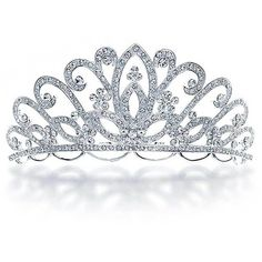 Bling Jewelry Imperially UR Tiara (74 BRL) ❤ liked on Polyvore featuring jewelry, crowns, tiaras, accessories, hair accessories, clear, fashion-headbands, rhinestone jewelry, crown jewelry and bridal crown