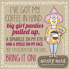 Ged Backland's random and witty thoughts on everyday life as told by Aunty Acid and her husband Walt in this Web comic Funny School Pictures, Funny Sports Pictures, Funny Photos, Funny Images, Aunty Acid, Funny Cartoons, Funny Jokes, Hilarious Sayings, Humorous Quotes