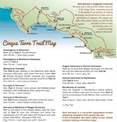 Cinque Terra trail map and open/closed status updates