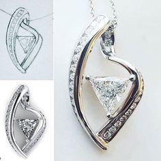 Custom jewelry design using stones from sentimental jewelry Custom Jewelry Design, Heart Ring, Engagement Rings, Jewels, 3d Rendering, Instagram Posts, Stones, Sketch, Fun