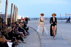 Boardwalk Runway Shows Marine-Inspired Chanel Cruise 2010 Show in Venice