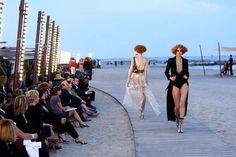 Boardwalk Runway Shows Marine-Inspired Chanel Cruise 2010 Show in Venice