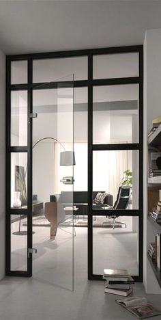 wie fr her glastrennwand im industrie look t ren in 2018 pinterest getrennt einrichten. Black Bedroom Furniture Sets. Home Design Ideas