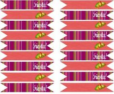 cinco de mayo free printables drink flags Free Baby Shower Printables, Party Printables, Free Printables, Hawaii Party Decorations, Diy Party Supplies, Party Garland, Party Themes, Party Ideas, Mexican Party