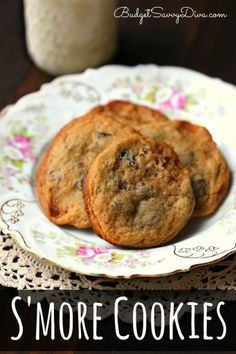 If you like s'mores you are going to LOVE this cookie! Easy and Done in Under 30 minutes. S*more Cookies Recipe #smores #cookie #budgetsavvydiva via budgetsavvydiva.com