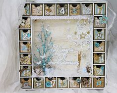 Gorgeous advent calendar with tutorial that works with a blue holiday color scheme!