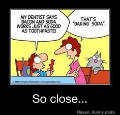 Baking soda vs bacon and soda? #FABsmile