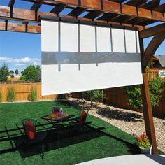 Premium Cordless Outdoor Solar Shade