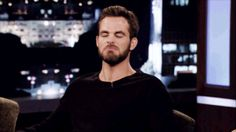 21 Of The Most Adorable Chris Pine GIFs - new headcanon: Dean Wichester has got descendants. Kirk is one of them.