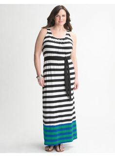 Lane Bryant Striped maxi dress - Women's Plus Size - Size 14/16