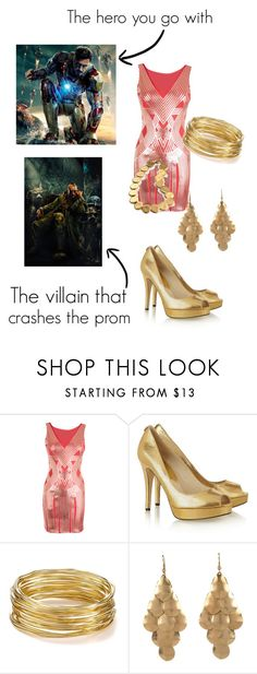 """""""Prom with a superhero ~ Iron Man"""" by moonheart2000 ❤ liked on Polyvore featuring MICHAEL Michael Kors, R.J. Graziano, Lori's Shoes, Lauren Ralph Lauren, marvel, superhero, prom, ironman and themandarin"""