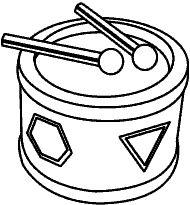 Colorear dibujo Tambor