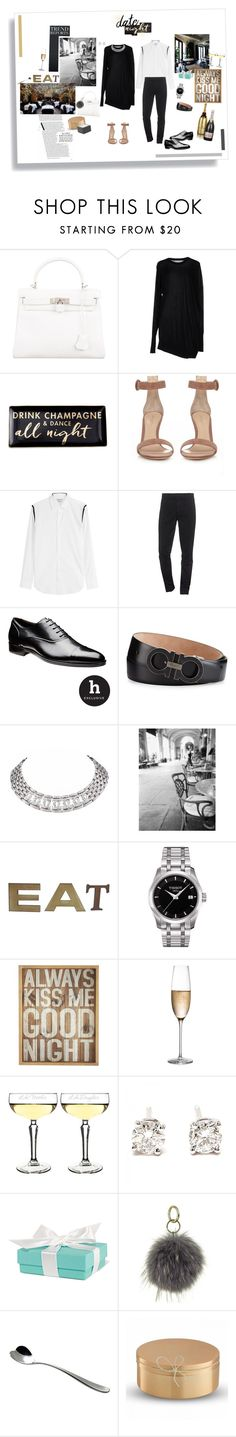 """HIS AND HERS: Special Date Night"" by marta-isabella ❤ liked on Polyvore featuring Hermès, Alexander Wang, Rosanna, Gianvito Rossi, Alexander McQueen, Kenzo, Salvatore Ferragamo, Cartier, Volta and Tissot"
