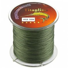 Titanline Super High Grade Fiber PE Briad Braided Fishing Line Green 60LB 500M Meters >>> To view further for this item, visit the image link.