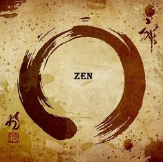 Japanese Zen enso. No matter how complete life may seem from a glance, if you look inside, you will see that there is always more left to do and be.