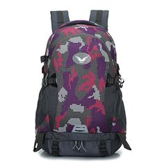Sfeibo Graffiti Backpack Outdoor Sport Camping Cycling Vintage Rucksack Printed Travel Trekking Bag Hiking Pack Purple >>> Read more reviews of the product by visiting the link on the image.