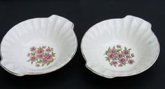 2 W S George Cereal Bowls Lugged Pink Daisies Bolero Shape Dinnerware GEO53 #Pink #GeorgeWS
