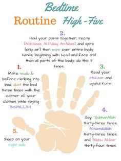 high five islamic bedtime routine