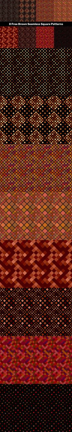 8 Free Brown Seamless Square Patterns #vector #brownpattern #style #flyer #PatternDesign #FreeVector #cover #flyerbackground #abstractpattern #VectorBackground #FreeBackground #backdropornate #seamlessbackground #VectorBackgrounds #color #free #VectorPattern Free Vector Backgrounds, Vector Free, Vector Pattern, Pattern Design, Square Patterns, Seamless Background, Vector Design, Abstract Pattern, Backdrops