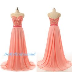 Processing+time:+1-2+weeks+ Shipping+Time:+3-5+business+days  Rush+order,+customs+size+and+color+is+available,+and+no+extra+cost.  Material:Chiffon Shown+Color:+Pink Hemline:Floor+Length+ Embellishments:+Lace+Applique Neckline:+Round  For+Custom+Size,+Please+leave+following+measurement...