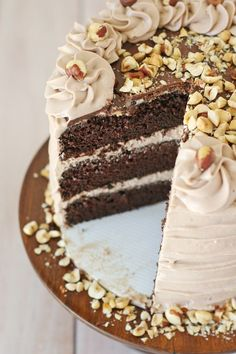 This gorgeous Chocolate Hazelnut Cake is moist, flavorful and oh so delicious! If you love Nutella... this recipe is for you!