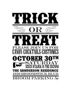 Halloween Party Invitations!