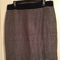 "Spotted while shopping on Poshmark: ""Loft Blue striped skirt""! #poshmark #fashion #shopping #style #LOFT #Dresses & Skirts"