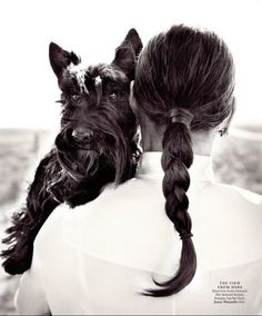 Have always liked this woman's energy. Have used her yoga video for yrs and now I she has also has a Scottie. FInding my tribe :) Ali MacGraw & her Scottish Terrier