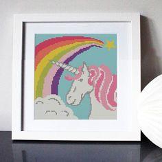 Rainbow Unicorn Cross Stitch Kit