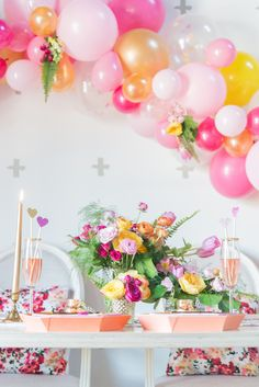 Bright & Bold: A Colorful Pink and Orange Wedding Inspiration Shoot #balloon_inspiration