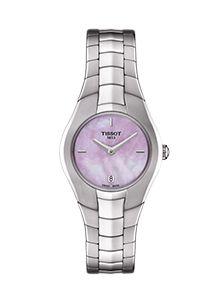 Tissot Women's Swiss T-Round Diamond Accent Stainless Steel Bracelet Watch Luxury Watch Brands, Sapphire Diamond, Automatic Watch, Stainless Steel Bracelet, Luxury Watches, Lady, Round Diamonds, Watches For Men, Women's Watches