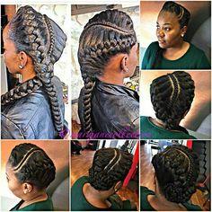 Goddess Braids http://www.shorthaircutsforblackwomen.com/african-hair-braiding/