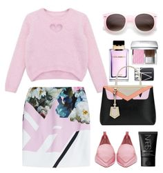 """""""Preen by Thornton skirt"""" by thestyleartisan ❤ liked on Polyvore featuring Chicnova Fashion, Christian Dior, Nicholas Kirkwood, Dolce&Gabbana, Preen, NARS Cosmetics, women's clothing, women, female and woman"""