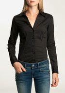 VERO MODA Cousin L/S Body G String Shirt HW12 Hemden und Blusen langarm, black