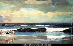 On the Beach, Long Branch, New Jersey - Winslow Homer - www.winslow-homer.com