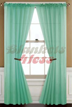 Sheer Curtains   ... about Mint Green Solid 1 Sheer Window Curtain Panel - Brand New