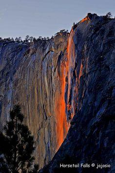Catching a 'Firefall' in Yosemite... by Jojo Sio ~ Yosemite National Park