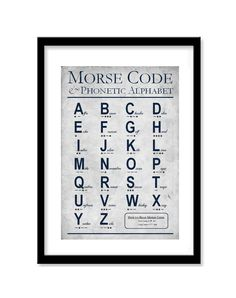 Morse Code Phonetic Alphabet Wall Art, Set of 1 Print, Educational Art, Military Aviation Decor Boy Room, Kids Room, Alphabet Wall Art, Alphabet Print, Aviation Decor, Phonetic Alphabet, Morse Code, Kids Decor, Decor Ideas