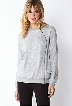 Asymmetrical Zipper Sweater | FOREVER 21 - 2000091887