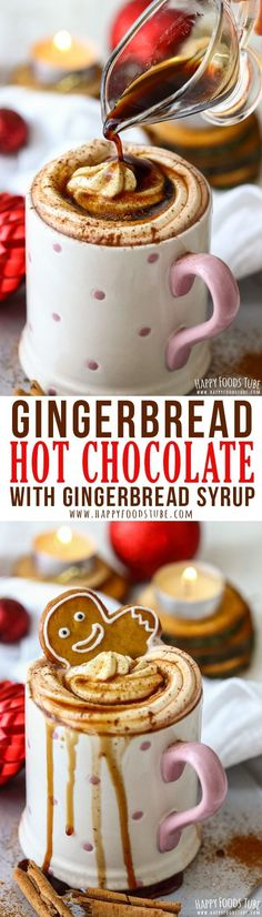 Gingerbread Hot Chocolate with Gingerbread Syrup