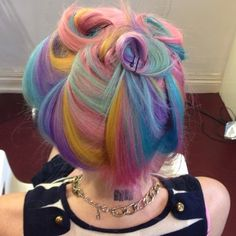 pastel rainbow swirls hair